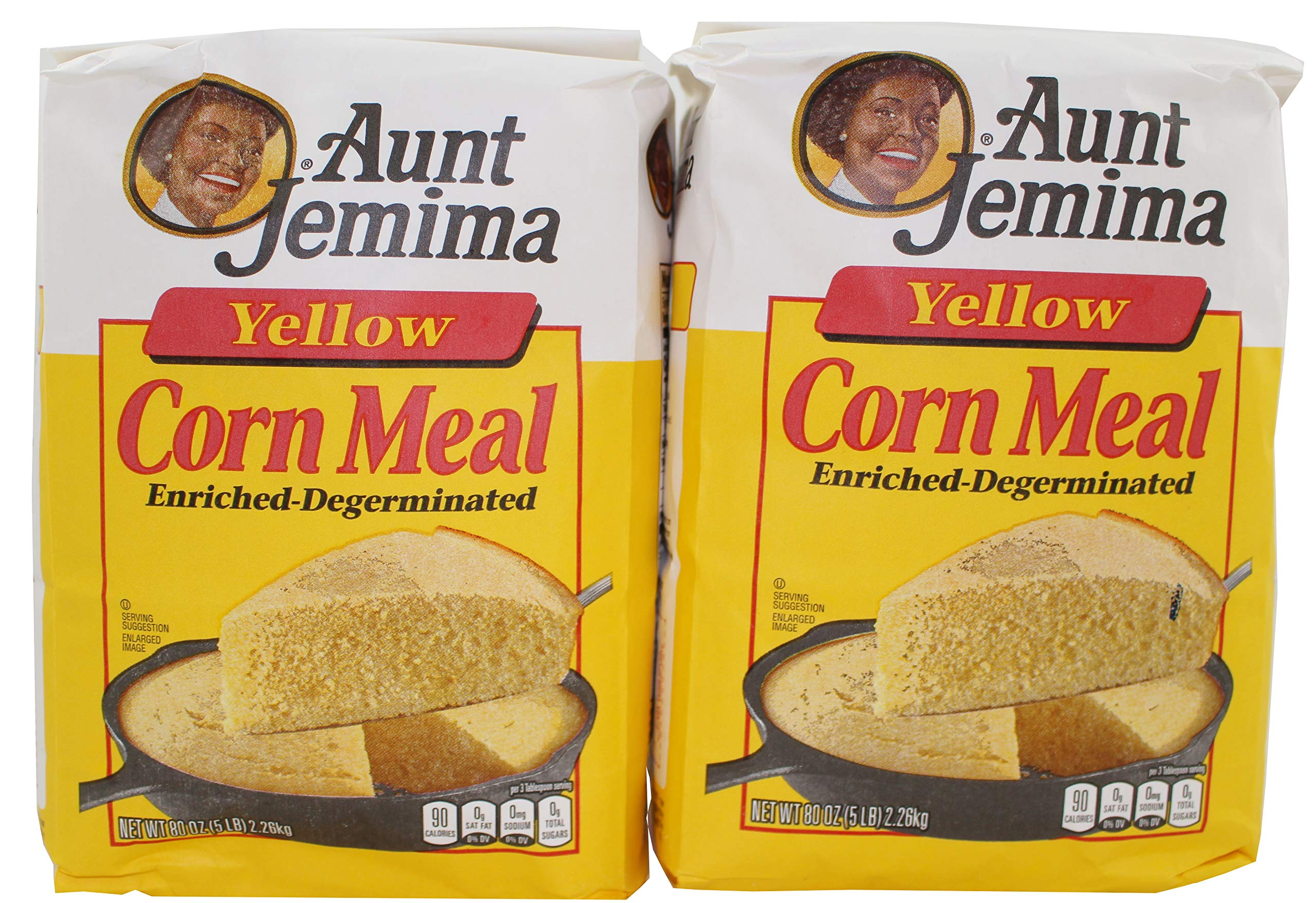 Aunt Jemima Yellow Corn Meal, 5 lb Each - 2 Pack