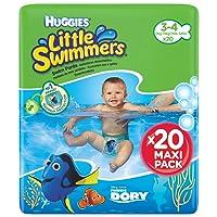 Huggies Little Swimmers Taille 3-4 (7-15 kg), Couche-Culotte de Bain pour Bébé x20 Culottes