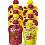 Ormeal Organic Baby Food Puree Fruit for 6 Months + Baby, 100% EU Certified, Combo (Pack of 10)