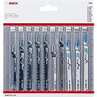 Bosch Professional 10 st. sticksågsblad set (för trä och metall, tillbehör för sticksågar med T-skafthållare)