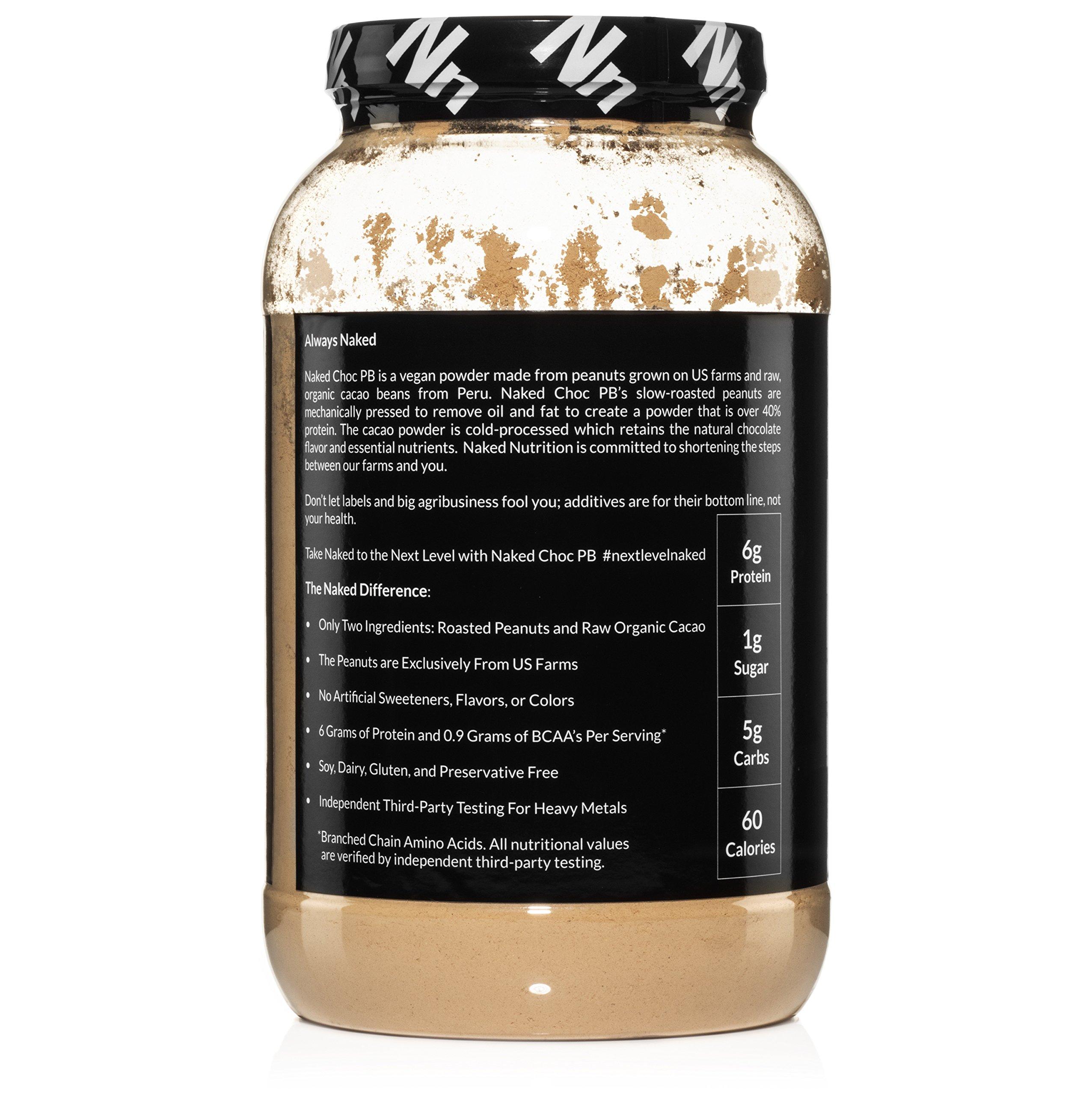 NAKED CHOC PB - Premium Organic Cacao and Powdered PB - 2lb Bulk by NAKED nutrition (Image #3)