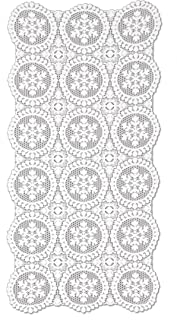 """product image for Heritage Lace Yuletide Table Runner, 19"""" by 39"""", White"""