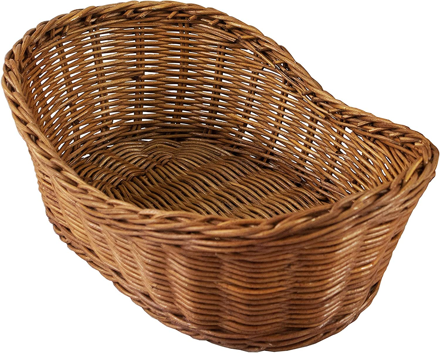 Wicker Woven Serving Baskets for Bread Fruit Vegetables Restaurant Serving /& Tabletop Display Baskets 14 Oval 2
