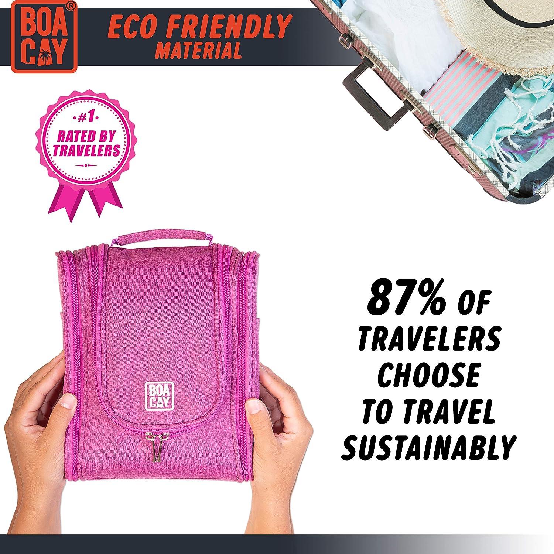 Premium Hanging Travel Toiletry Bag for Women and Men Hygiene Bag Bathroom and Shower Organizer Kit