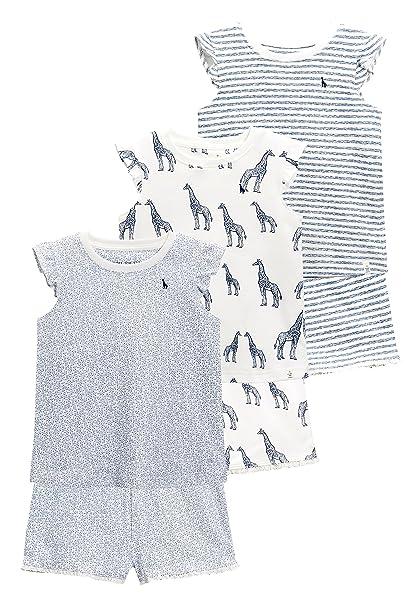 next Niñas Pack De Tres Pijamas con Pantalones Cortos Y Estampado De Jirafas (9 Meses - 8 Años) Azul Marino/Blanco 7-8 años: Amazon.es: Ropa y accesorios