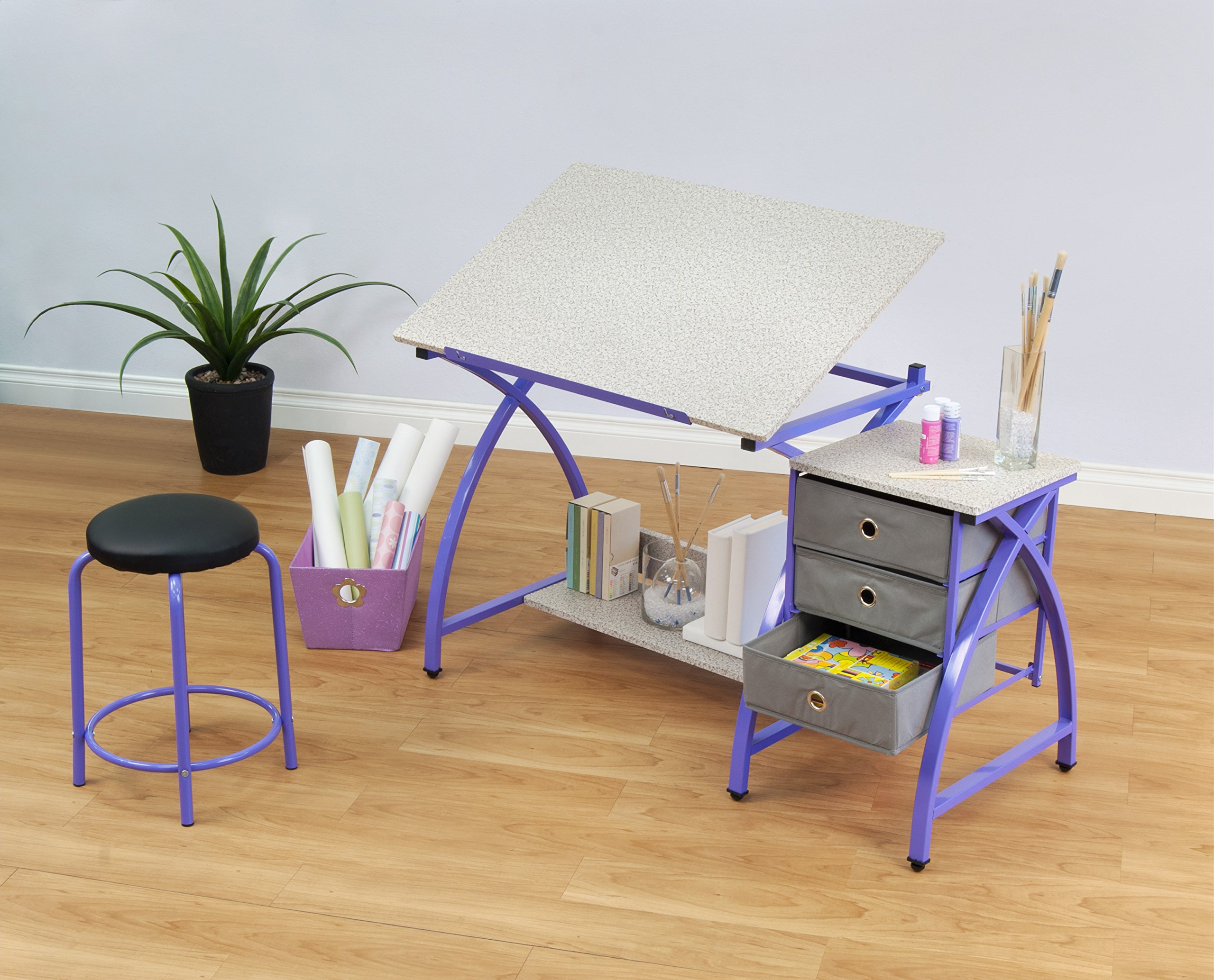 Comet Center with Stool in Purple / Spatter Gray by SD STUDIO DESIGNS (Image #7)