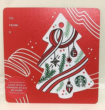Amazon Com Starbucks Gift Cards Christmas Tree Message 2017 Limited