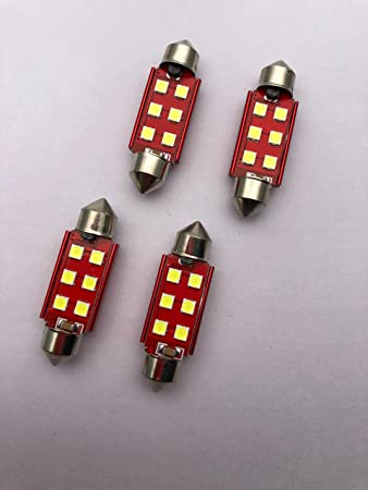 10*White 41MM 3030 6-SMD Canbus Error Free Map Dome Light No Polarity LED Bulbs