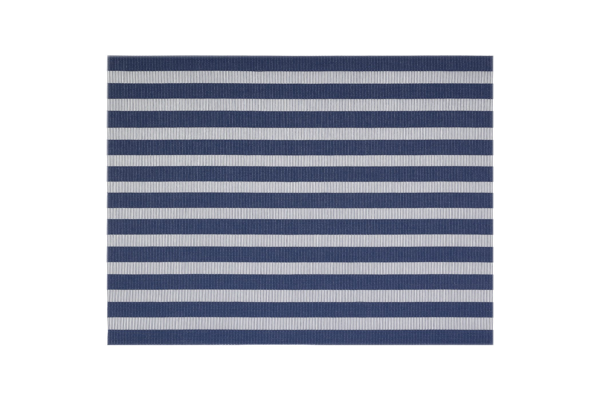 Front of the House XPM102BLV83 Metroweave Nautical Mat, 12'' width, 16'' Length, Vinyl, Blue (Pack of 12)