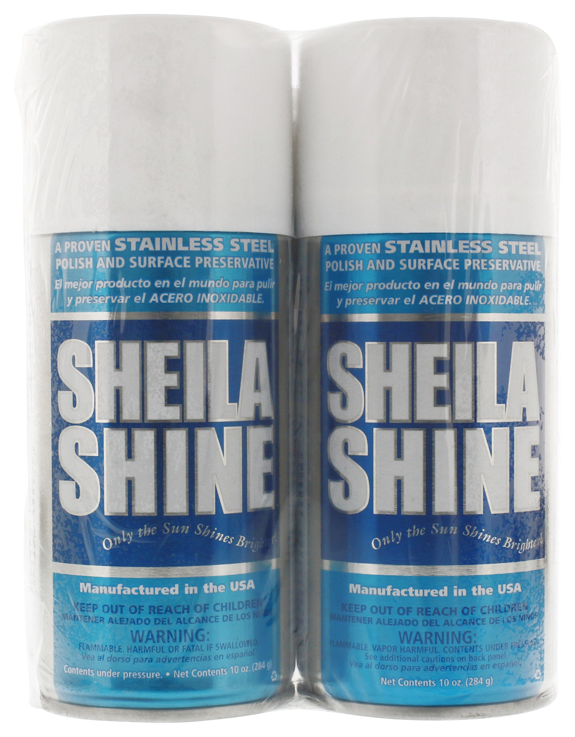 Sheila Shine Bundle: Stainless Steel Cleaner and Polish 10 oz 2 Pack with Microfiber Cleaning Cloth by Sheila Shine (Image #2)