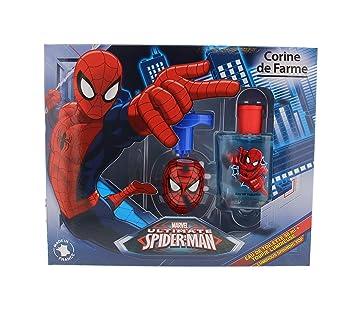 Corine de Farme Coffret Spiderman Eau de Toilette + peonza luminosa 50 ml: Amazon.es: Belleza