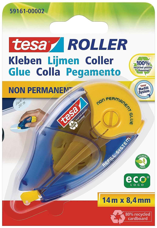 Roller effaceur rechargeable colle non permanente 14m 8, 4 mm EcoLogo TESA A7381AD