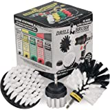 Drillbrush 3 Piece Drill Brush Cleaning Tool Attachment Kit for Scrubbing/Cleaning Tile, Grout, Shower, Bathtub, and All Other General Purpose Scrubbing by All Purpose Automotive Soft-White