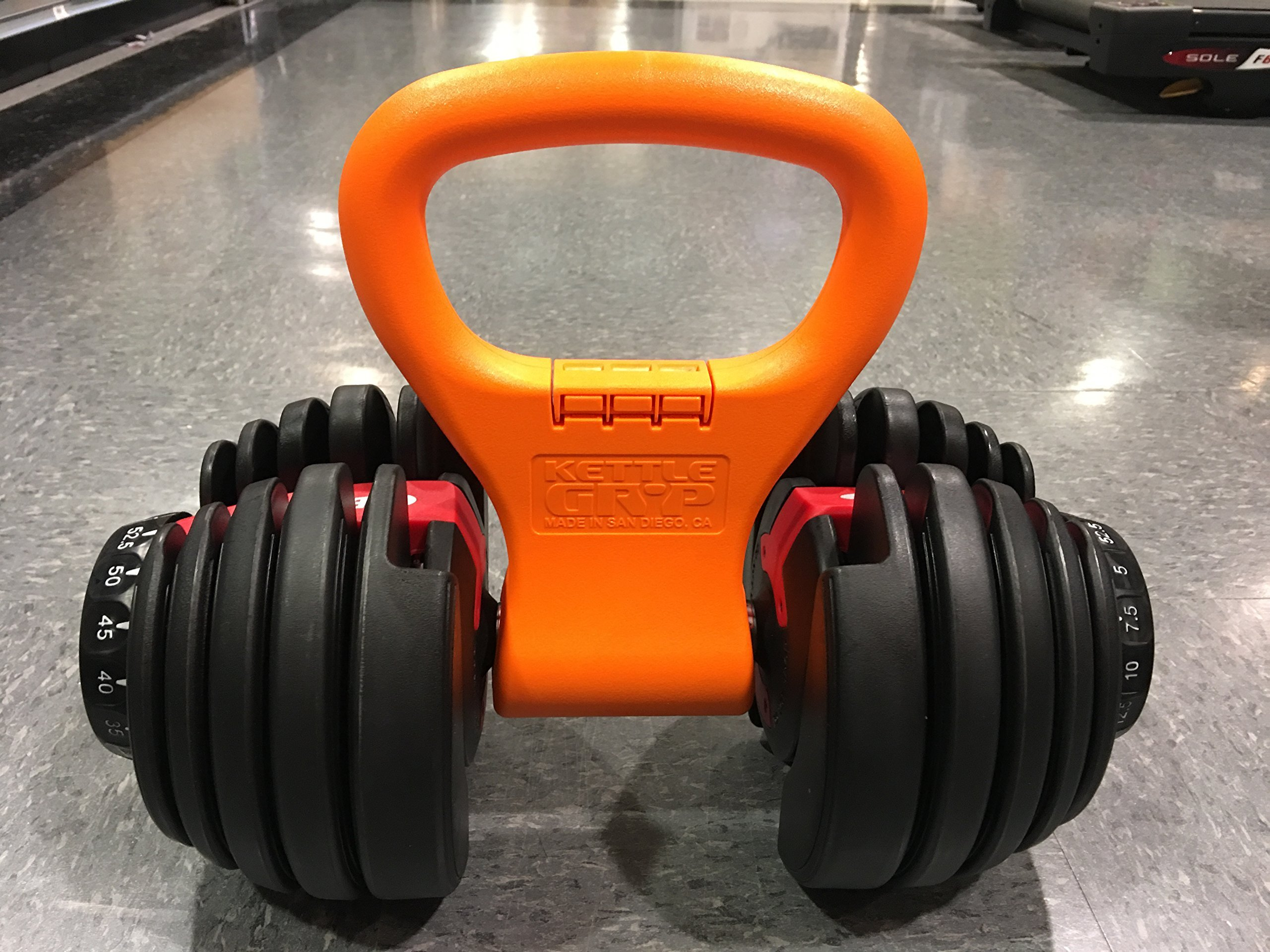 Kettle Gryp Kettlebell Adjustable Portable Weight Grip Travel Workout Equipment Gear for Gym Bag, Crossfit WOD, Weightlifting, Bodybuilding, Lose Weight | Clamps to Dumbells | Made in U.S.A. by Kettle Gryp (Image #4)