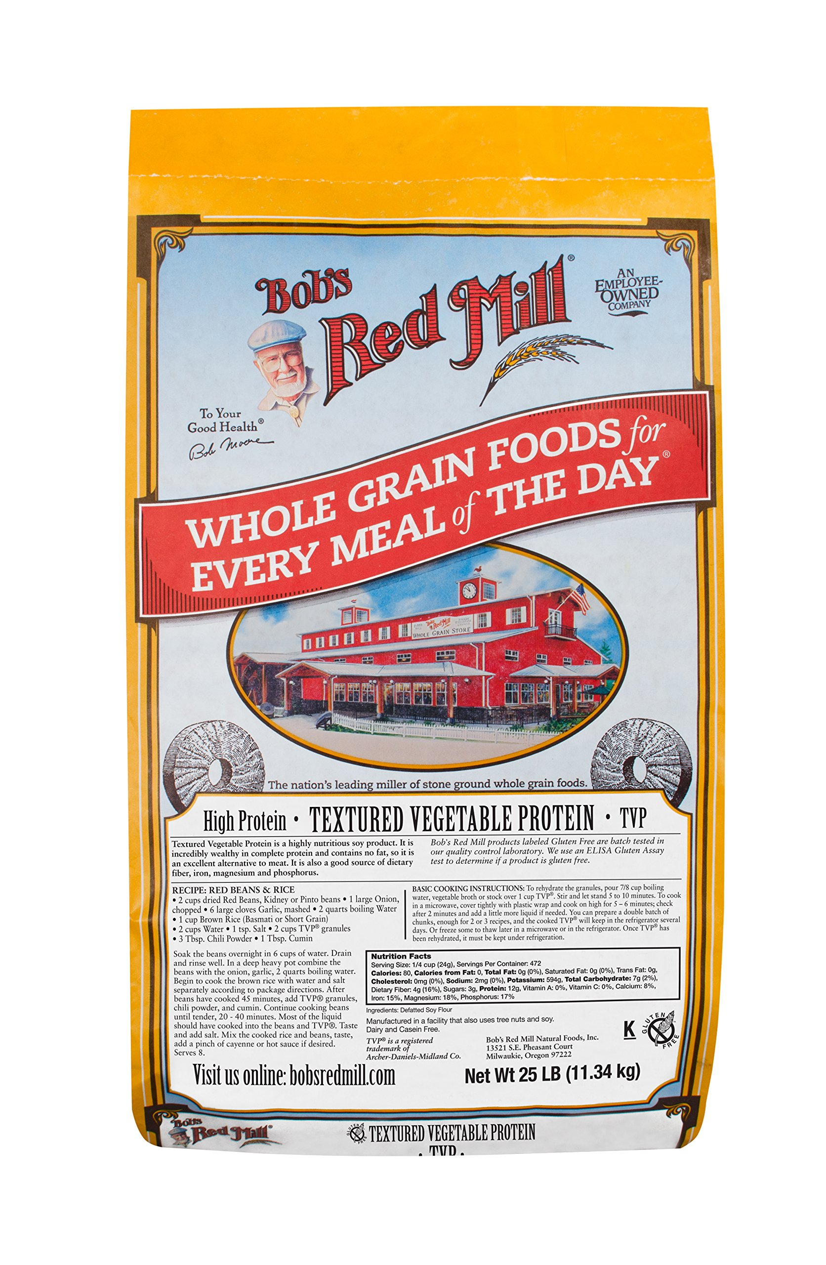 Bob's Red Mill Textured Vegetable Protein, 25 Pound