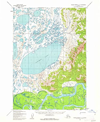 Amazon.com: Alaska Maps   1954 Russian Mission, AK USGS Historical ...