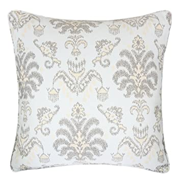 Outstanding Homey Cozy Jacquard Throw Pillow Cover Cream Mocha Elegant Floral Decorative Square Couch Cushion Pillow Sham Case 20 X 20 Inch Cover Only Gmtry Best Dining Table And Chair Ideas Images Gmtryco