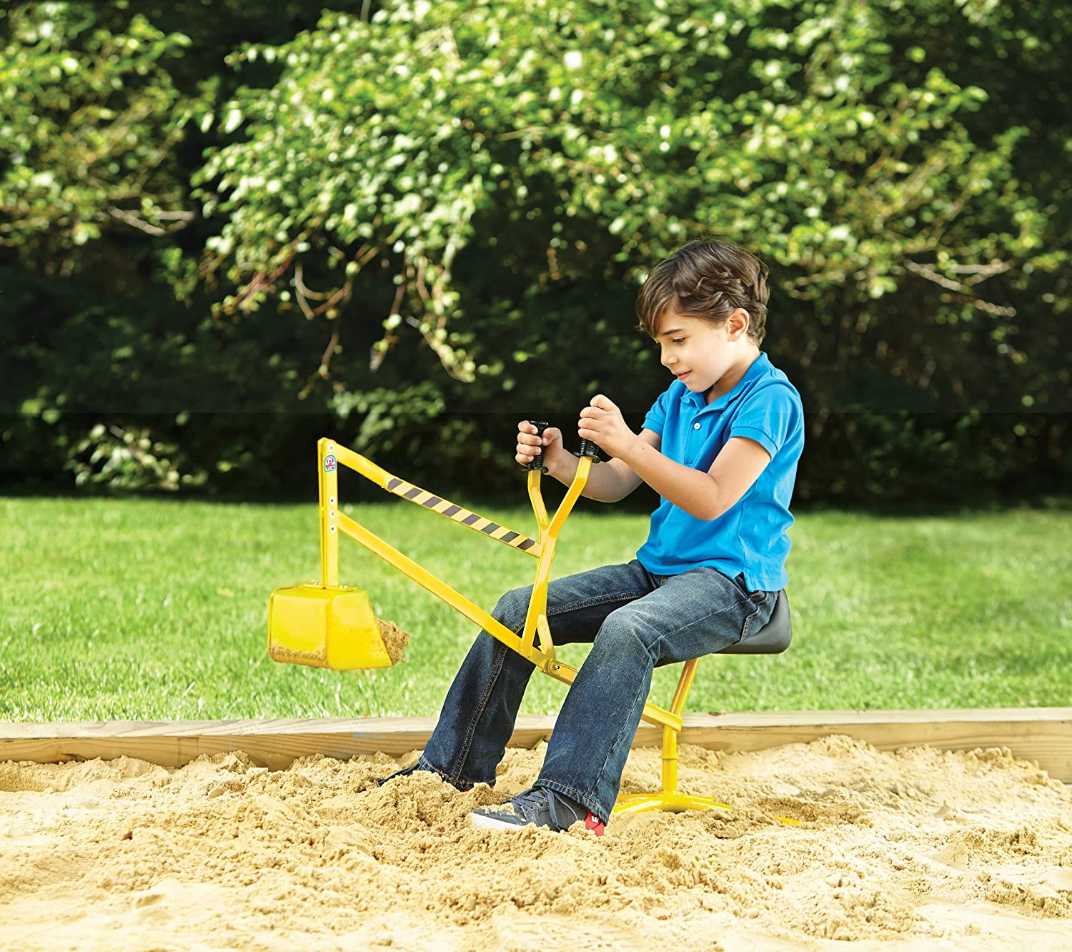 amazon com big dig ride on working crane toys u0026 games