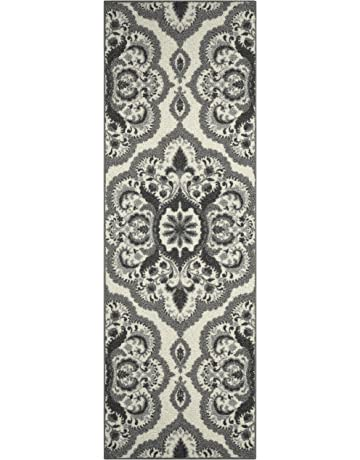 Maples Rugs Runner Rug - Vivian 2 x 6 Non Skid Hallway Carpet Entry Rugs Runners