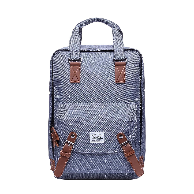 Rucksack Damen Herren Schulrucksack,KAUKKO 15 Zoll Backpack Kinder Laptop Rucksack Lässiger Daypacks für Wander Outdoor Reise (Blau) 1K100612