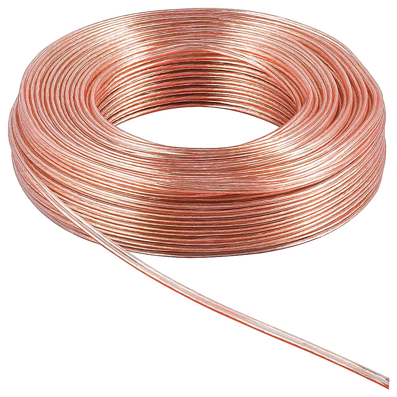 Wentronic 15130 - Cable para altavoces (10 metros, 5 mm), transparente: Amazon.es: Industria, empresas y ciencia