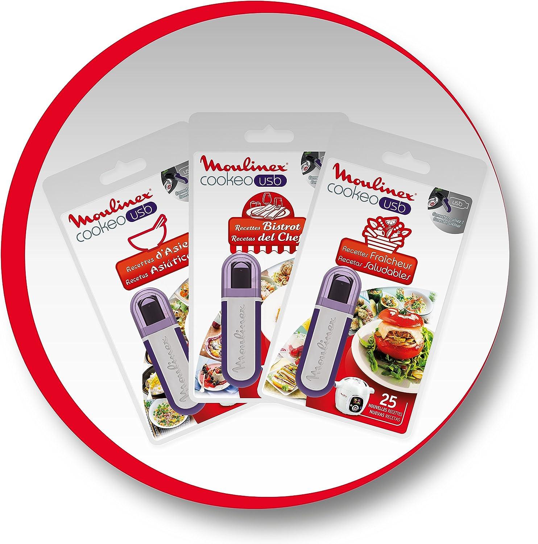 Moulinex Cookeo XA600111 - Llave flash USB con 25 recetas, multicolor: Amazon.es: Hogar