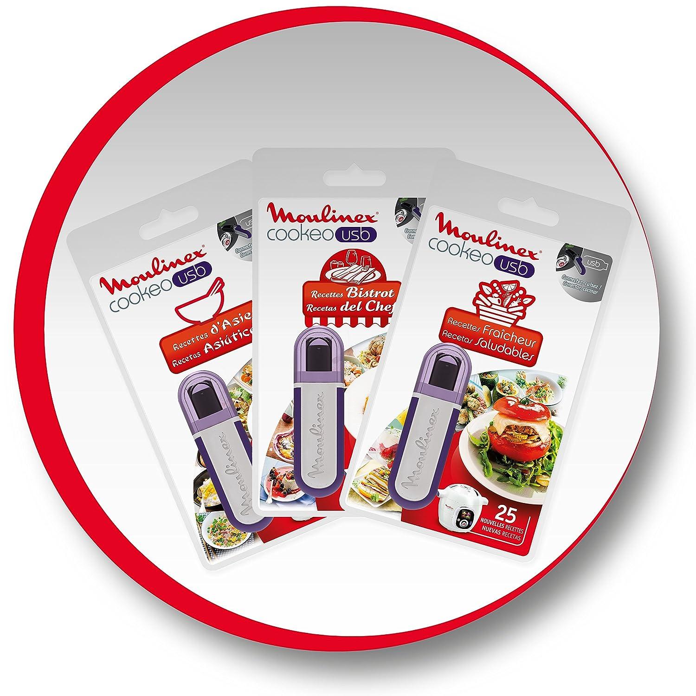 Moulinex XA600111 accesorio de cocina multifunción Recipes USB flash drive - Accesorios de cocina multifunción (Llave flash USB con recetas, Multicolor, ...