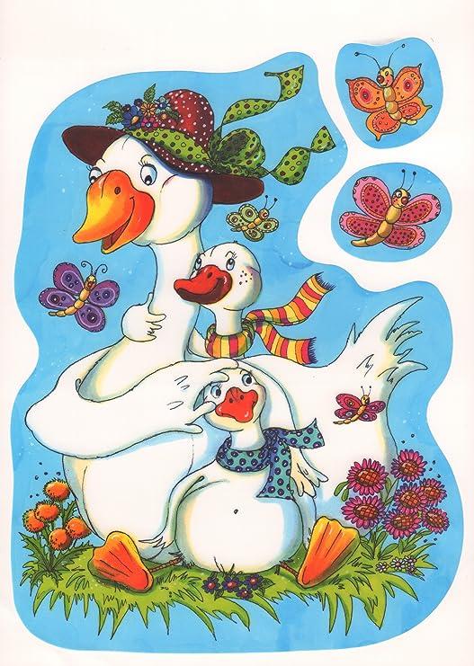 Ventana - Pascua - Pato de flores - mantiburi pegatinas tatuaje ...