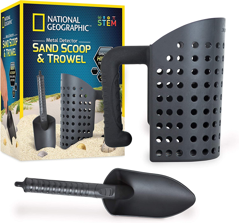 National Geographic Llana y conjunto de herramientas de tamiz para detección de metales y la caza de tesoro