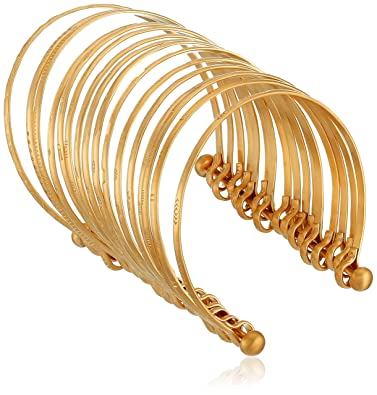 9ef630f050d Amazon.com  Satya Jewelry Large Gold Bangle Cuff Bracelet  Jewelry