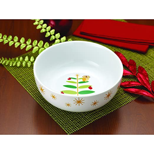 Amazon.com | Rachael Ray Dinnerware Holiday Hoot 10-Inch Round Serving Bowl Serving Bowls  sc 1 st  Amazon.com & Amazon.com | Rachael Ray Dinnerware Holiday Hoot 10-Inch Round ...