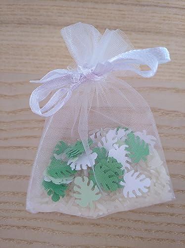 Bolsas de arroz y confeti modelo tropical para boda (Pack de ...