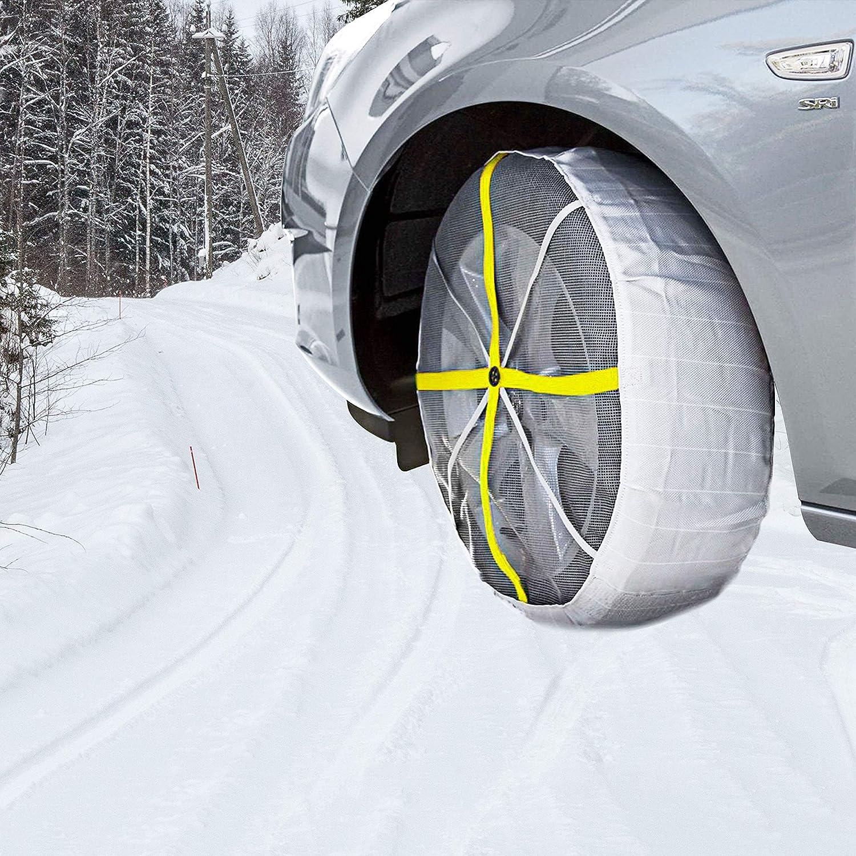 Snow Sock Traction Longer Life Car Tire Traction Cover Socks Tire Chain Alternative Anti Slip Winter Traction Aid Snow//Ice//Slush Antiskid Car Truck SUV SHADDOCK Fishing