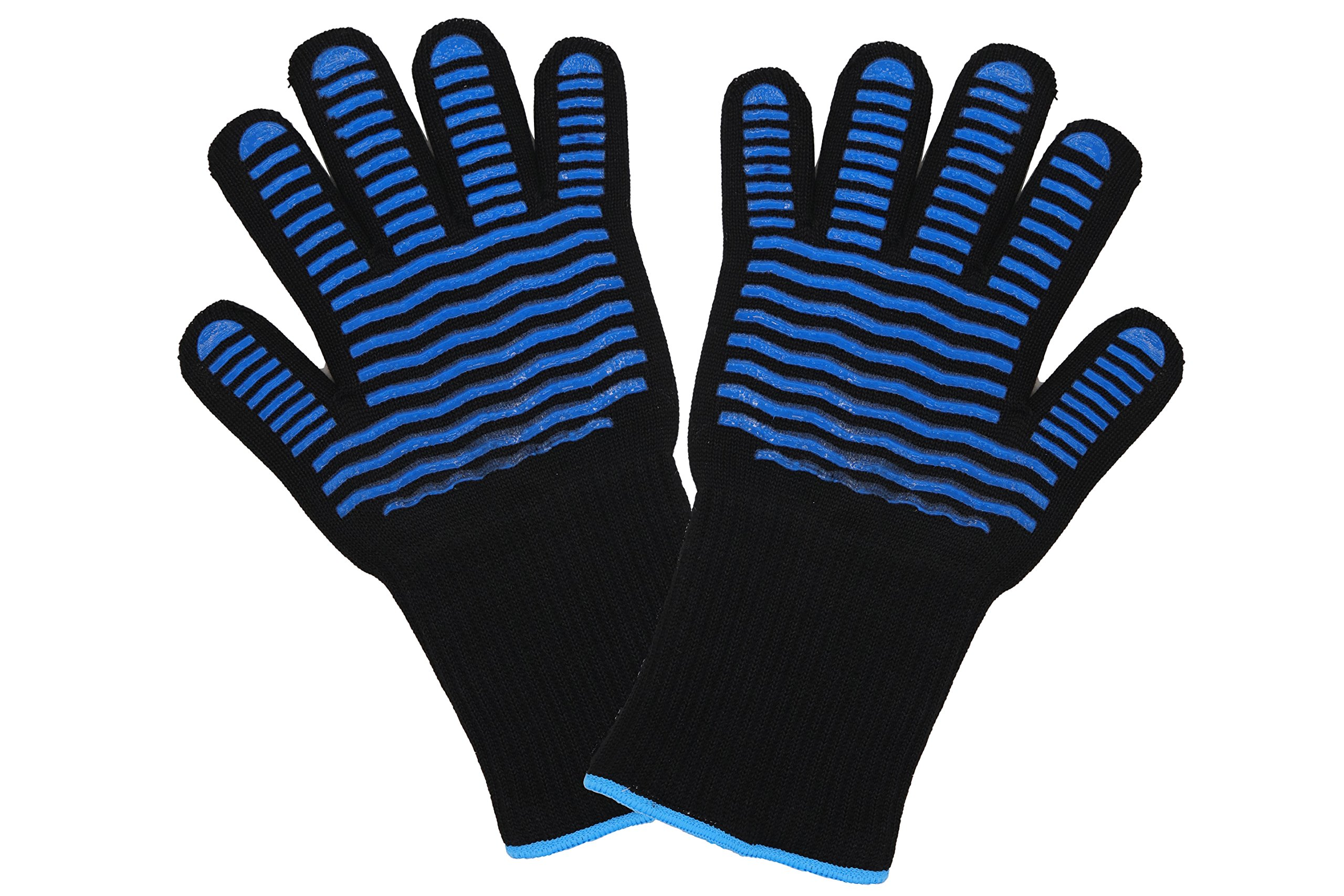 ETHDA Extreme Heat Resistant 932°F Gloves, Cut Level 3 Protection Mitts, Good for Cooking,Fireplace,Oven,BBQ,Grilling,Baking,Smoker,High Performance,Protect Hands,Mother's Day Gift 1 Pair (Long Cuff) by Ethda