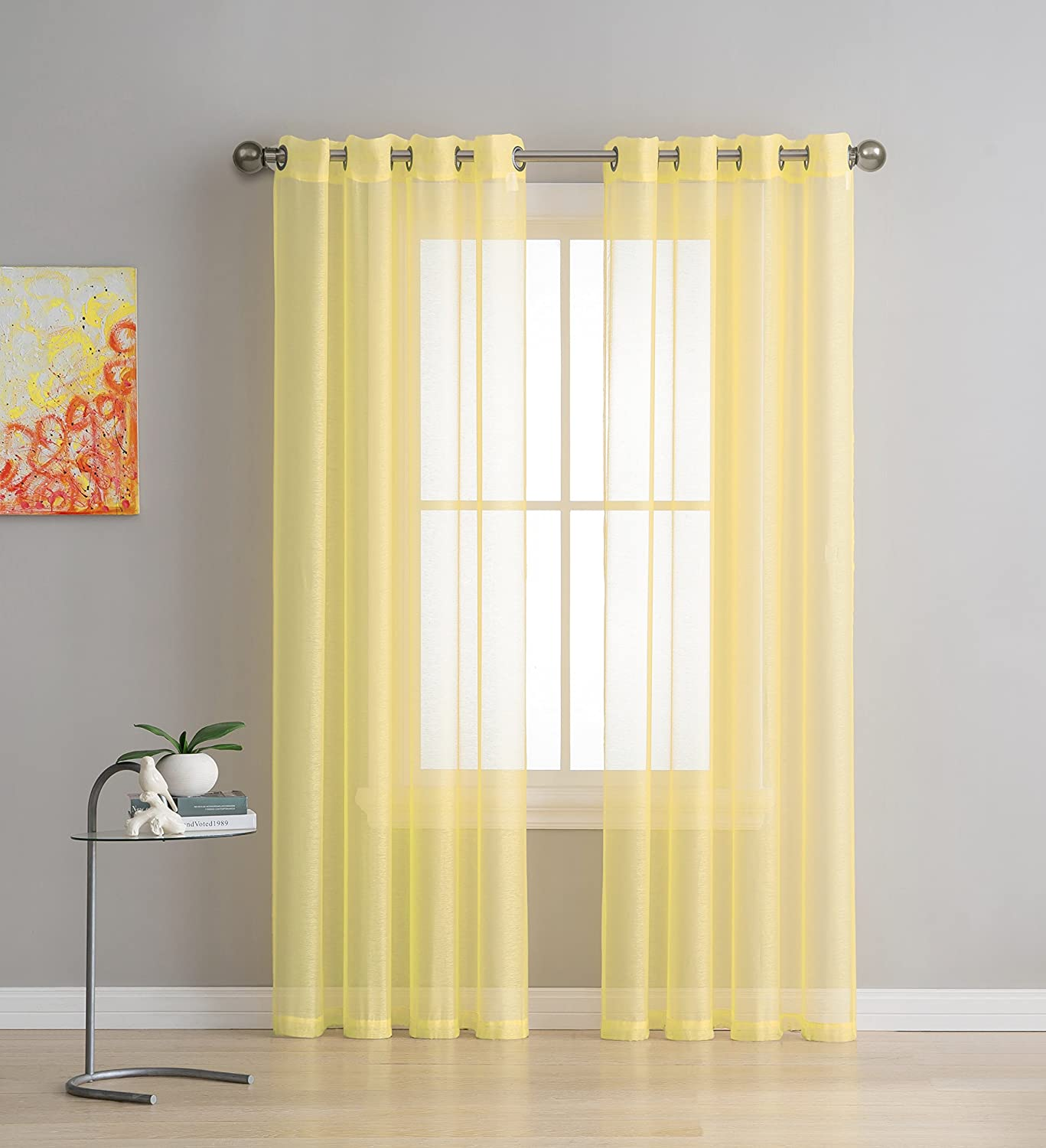 Panel Beautiful, Elegant, Natural Light Flow, and Durable Material Yellow