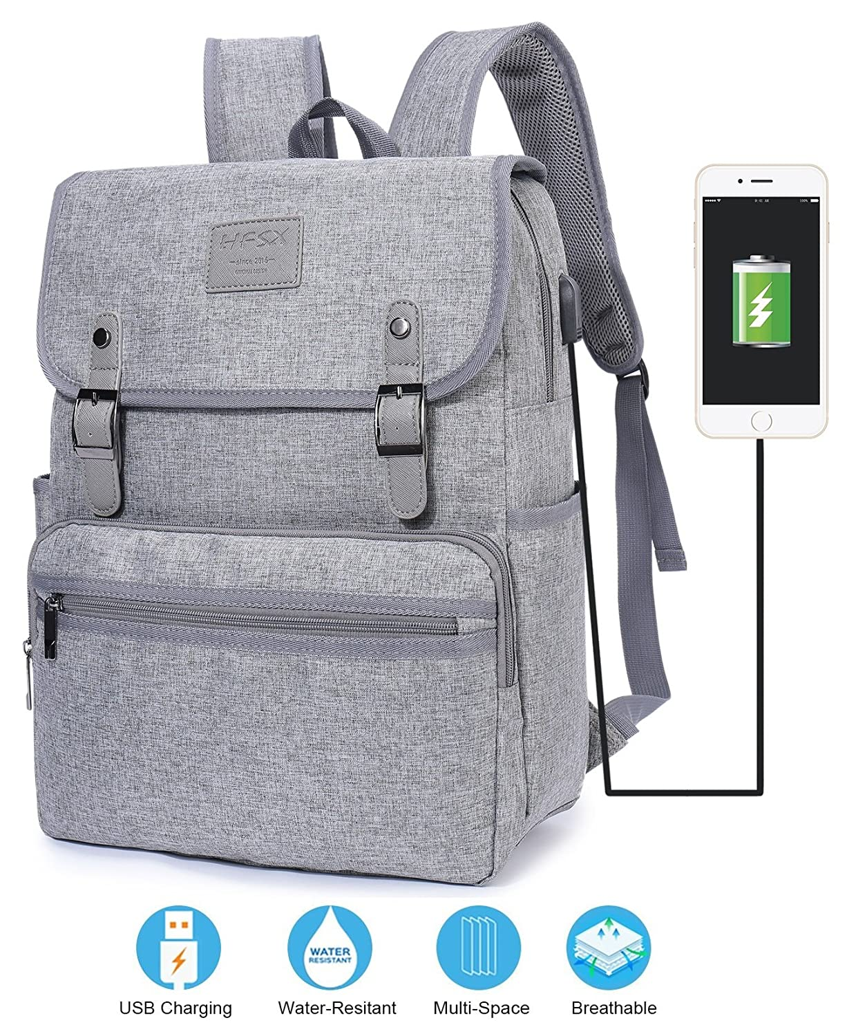 769db7d17902 good Laptop Backpack Men Women Business Travel Computer Backpack School  College Bookbag Stylish Water Resistant Vintage