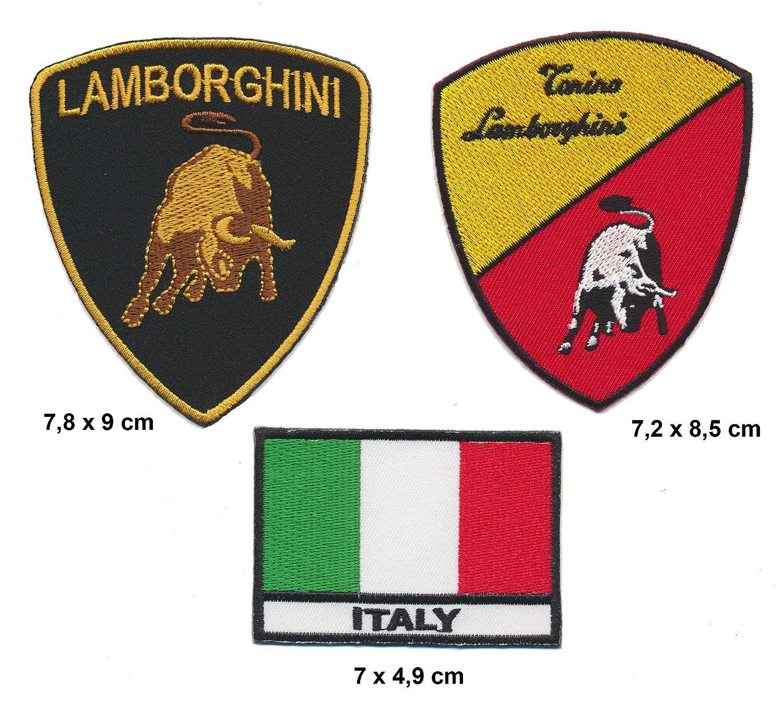 Racing Classics Lamborghini Toppa da Cucire Toppe 3 Pezzi Auto Passeggino Sportivo Aventador Turbo spedizione Royal Garment