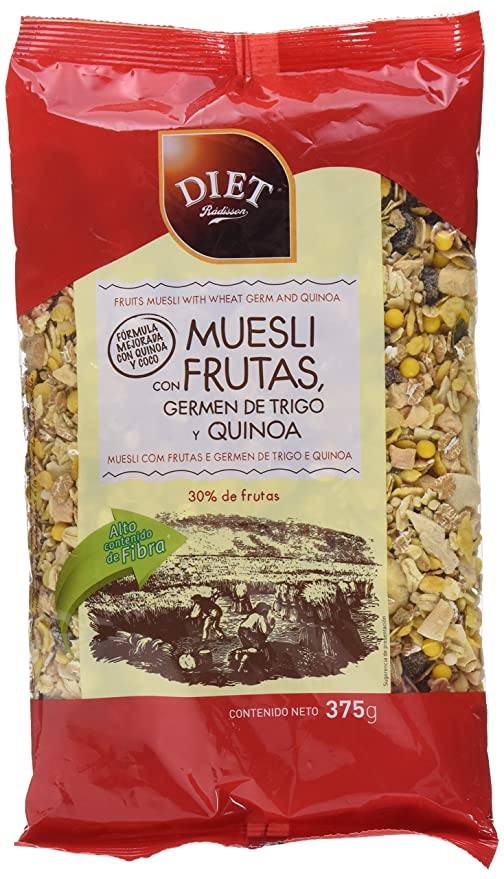 Diet Rádisson Muesli Con Frutas Germen De Trigo Y Quinoa - 375 g