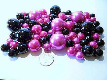 Amazon Valentine 80 Jumbo Assorted Sizes Hot Pink Pearls