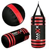 Maxx Sports Junior Punch bag Set Gloves, Hook or Bracket Inc FREE hand wraps kids Boxing MMA Training Fitness