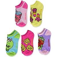 Shopkins Girls' 5 Pack No Show Socks