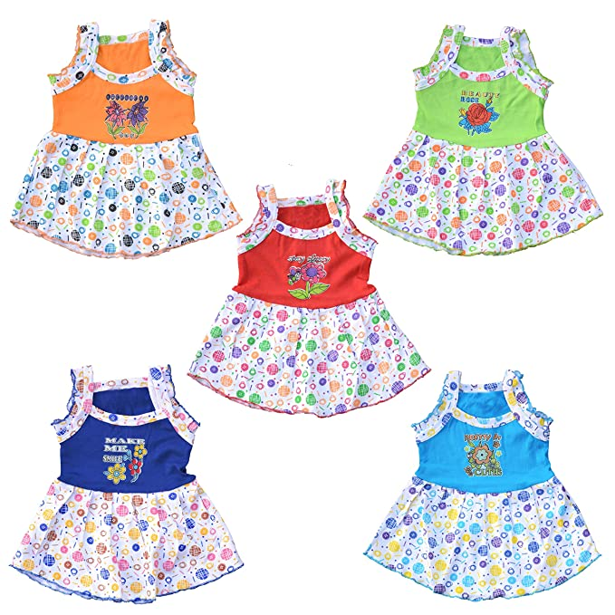 66f3d685310a Eazy Trendz New Born Baby Girls Colourfully Designed Printed Frock ...