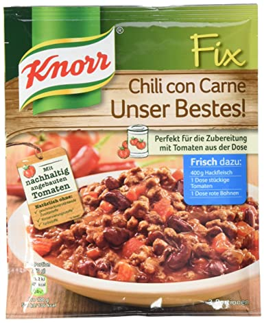 Knorr Fix Chili Con Carne Unser Bestes 3 Portionen 22 X 49 G