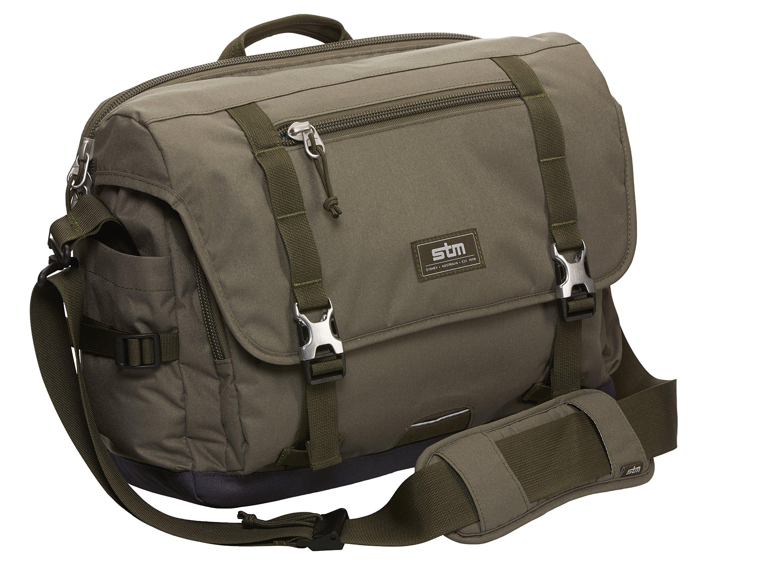 STM Trust, Laptop Shoulder Bag for 13-Inch Laptop - Olive (stm-112-034M-15)