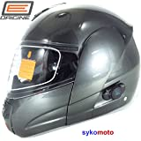 Origine V210 GUN METAL Motorbike Modular Bluetooth Touring Adventure Flip Front CRASH Helmet