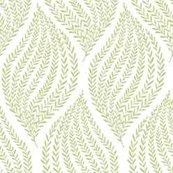 NuWallpaper NU1688 Fern Lime Green Peel & Stick Wallpaper