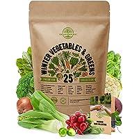 25 Winter Vegetable Garden Seeds Variety Pack for Planting Outdoors & Indoor Home Gardening 6500+ Non-GMO Heirloom…