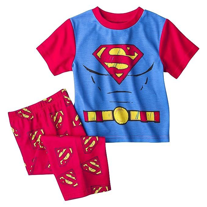 DC Comics - Pijama Entero - para bebé Niño Rojo Rosso
