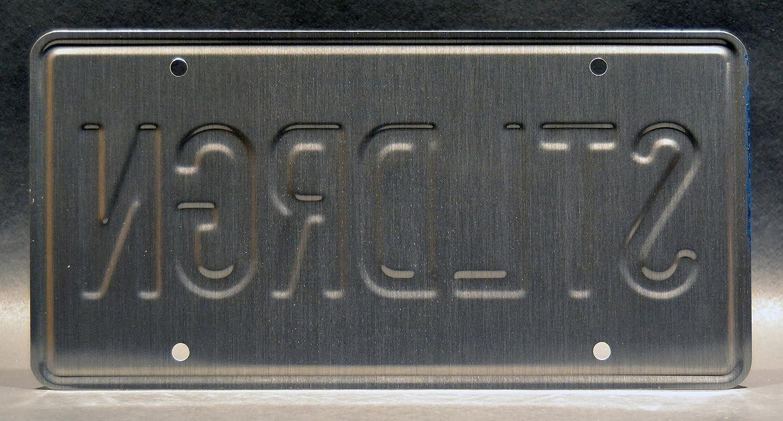 Celebrity Machines Rock Star Steel Dragon Metal Stamped License Plate