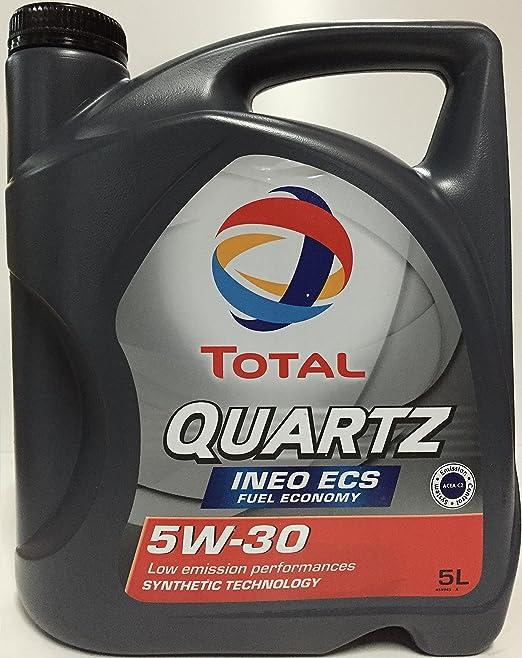 101 opinioni per Olio motore per auto TOTAL QUARTZ INEO ECS 5W30 5l.